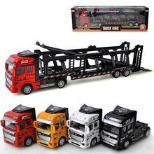 1:48 сплав грузовик транспортер модель вытянуть назад игрушечный автомобиль четыре типа лучший подарок для детей Детские игрушки для мальчика подарок на год