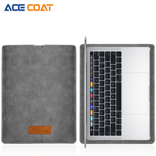 ACECOAT Jumbuck PU leather Sleeve Protector bags For Apple Macbook Air Pro Retina13 12 15 laptop Cover For Mac book 13.3 inch