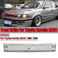High Quality Grill Corolla Chrome Silver Car Front Grille Grill For Toyota Corolla AE101 1988 1989 1990 1991 1992