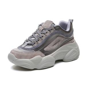 Image 1 - SWYIVY 2019 المرأة أحذية رياضية الصيف أبي أحذية النساء منصة جديدة أحذية رياضية أبيض/وردي حذاء كاجوال الإناث تنفس أحذية رياضية