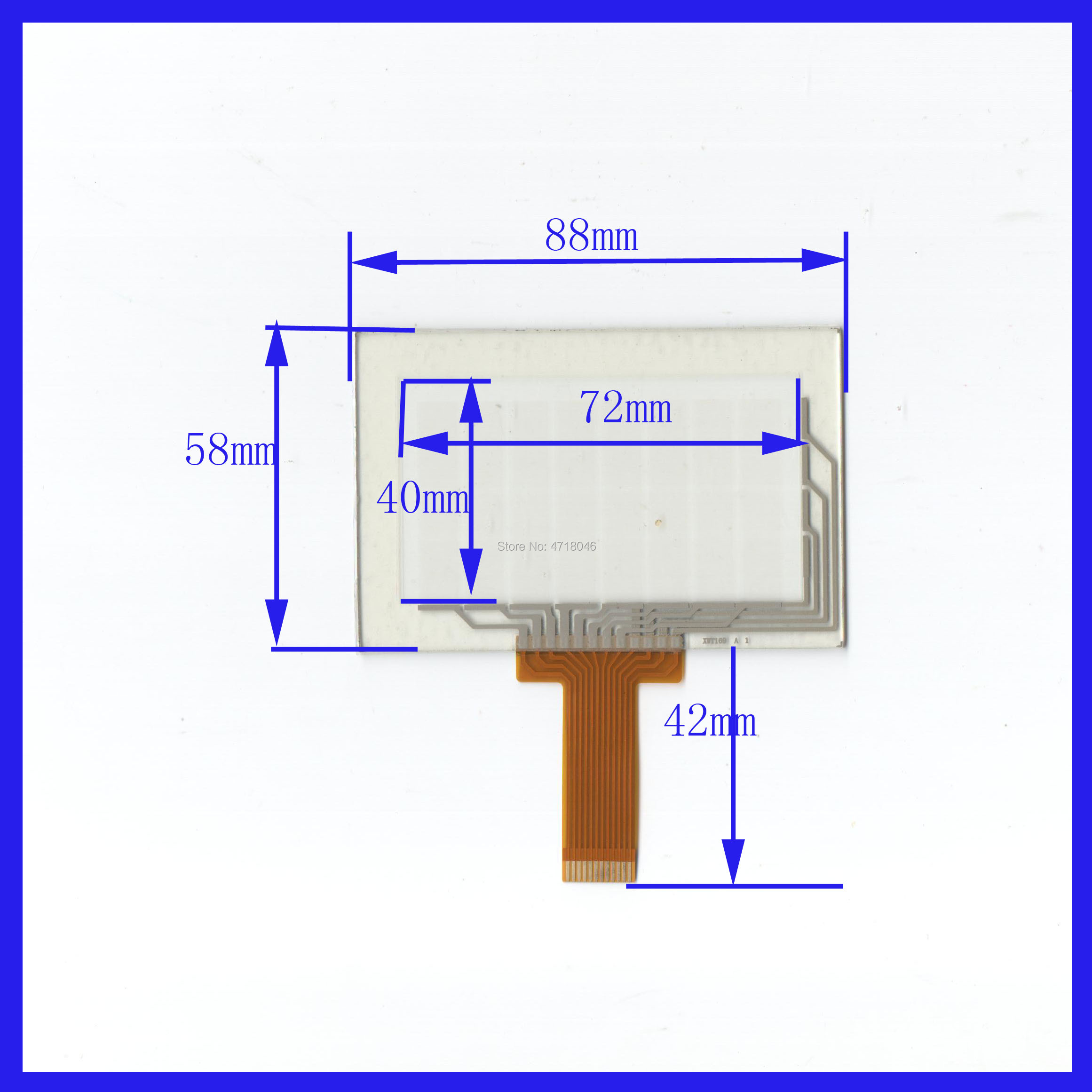 Wholesale 5PCS/Lot XWT169 88*58mm 3.5inch 12lines Resistance Screen For Car  DVD Redio This Is Compatible