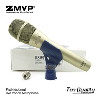 Top Quality KSM9 Professional Live Vocals Dynamic Wired Microphone Karaoke Microfone Super Cardioid Podcast Microfono Mike Mic