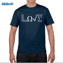 GILDAN New Summer Fashion Love Math T Shirt Men O-neck Short Sleeve Cotton Mathematic Science T-shirt Tops Camisetas