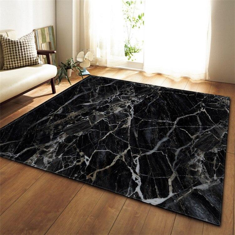 Black White Marble Printed Large Carpet For Living Room Anti-Slip Sofa Tatami Floor Mat Table Rug Kilim Tapis Salon Tapis Salon