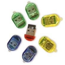 Высокоскоростной мини TF Micro кард-ридер USB 2,0 Micro T-Flash TF кард-ридер цвет случайный