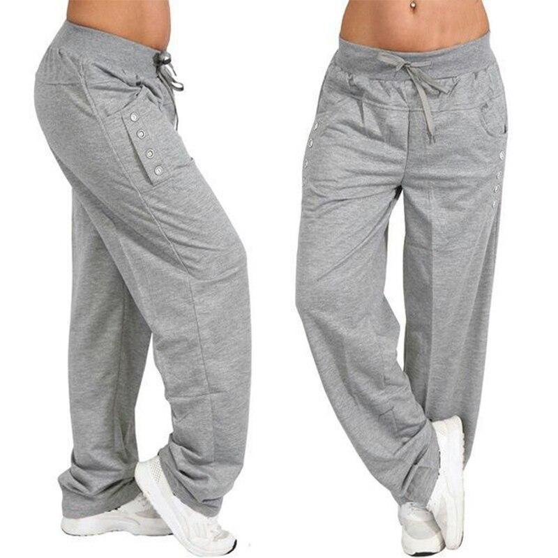 Summer Autumn Womens   Wide     Leg     Pants   Female Casual Long   Pants   Lady Drawstring Trousers 2019 Plus Size Solid Pantalon Palazzo 5XL
