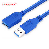 Rankman USB 3.0 Verlängerung Kabel USB 3.0 EINE Männlichen zu Weiblichen Daten Sync Kabel Erweiterte Datum Kabel Anschluss für PC Maus U festplatte HDD