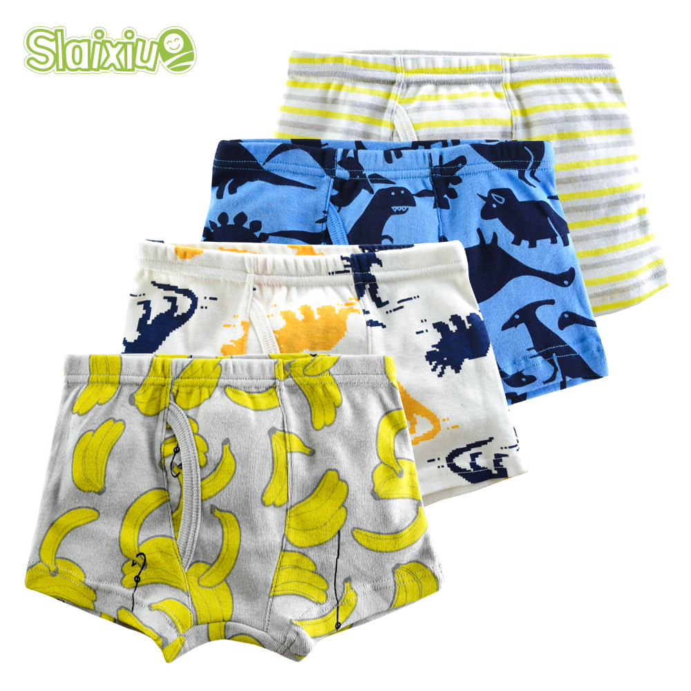 3/4/6Pcs/lot Cotton Kids Boys Underwear Panties For Children Boxer Briefs For Boy Soft Organic Teenager Underpants For 2-10years