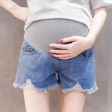 Женские ковбойские шорты для женщин джинсы для беременных Беременная женщина хит Underpant летние поддержка шорты до талии Беременность Одежда Enceinte