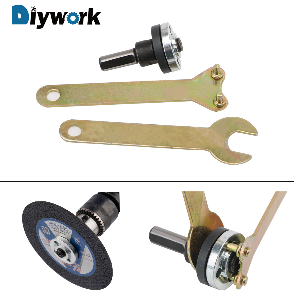 DIYWORK 1 Set 10mm Connecting Rod  For Cutting Disc Polishing Wheel Electric Drill Conversion Angle Grinder