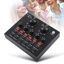 Профессиональная звуковая карта V8 Цифровой аудио микшер микрофон Музыка Аудио гарнитура развлечения караоке звук микшер живая звуковая карта
