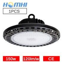 Светодио дный led high bay НЛО свет 150 Вт черный круговой лампы желтый Склад Супермаркет складе 110 V 220 V подвесной светильник