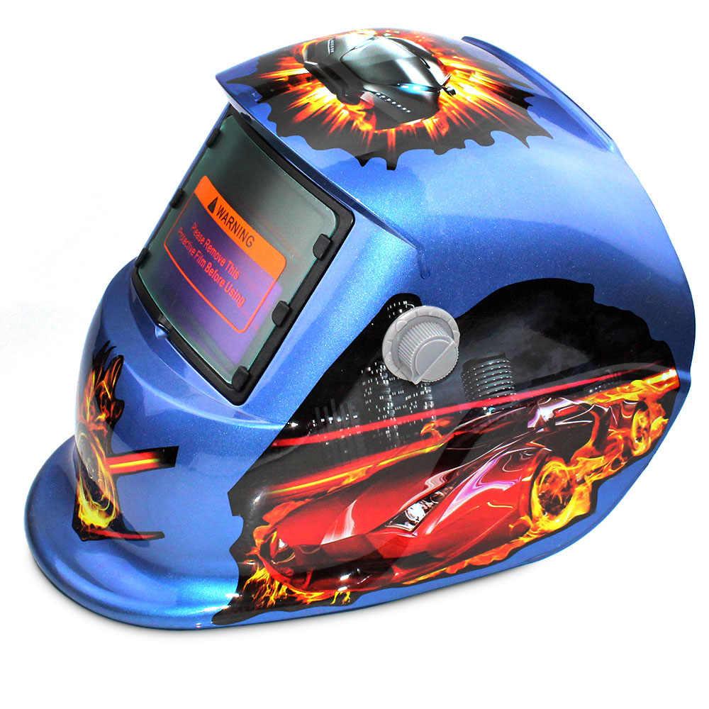 Сварной колпачок трек автомобиля Дизайн Автоматическая переменная свет затемнение электрическая Солнечная Сварка защитные маски под шлем защитное стекло сварщика шлифования