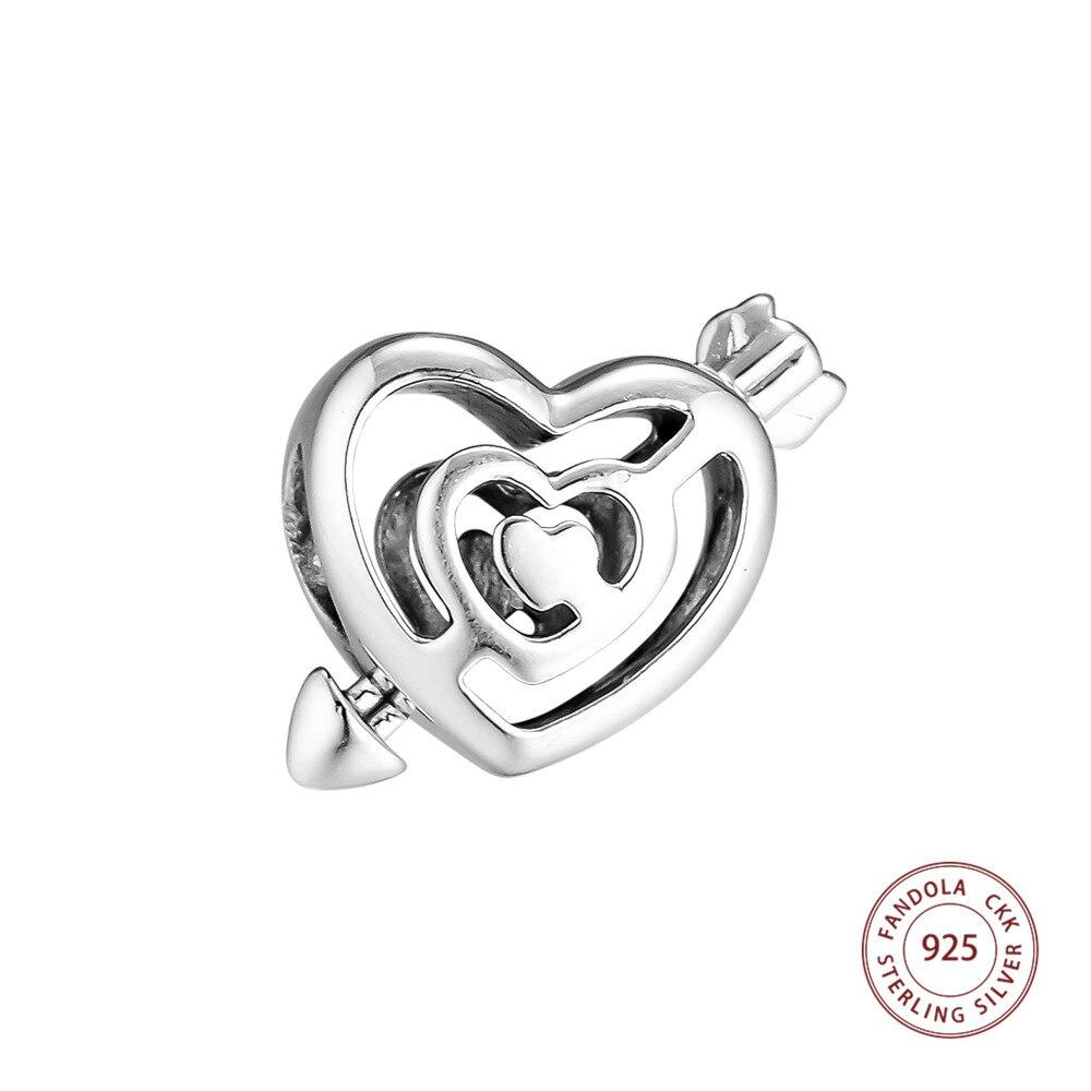 100% 925 Sterling Silber Pfad Zu Liebe Perlen Für Schmuck Herstellung Passend Frauen Charms Silber 925 Original Armband Valentinstag Tag Hell In Farbe