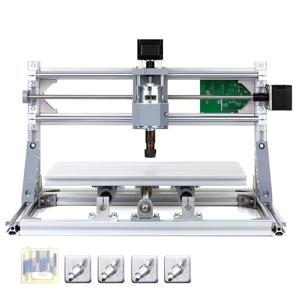 CNC 3018 bricolage CNC routeur Kit 2-en-1 Mini Machine de gravure GRBL contrôle 3 axes pour acrylique sculpture sur bois fraiseuse de gravure