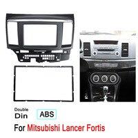 2 Din Car Fascia Stereo Audio Radio DVD CD GPS Plate Panel Dash Mounting Frame Fascias Replacement For Mitsubishi Lancer Fortis