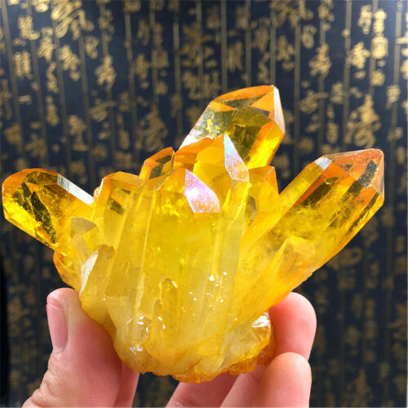 1pc Natural Yellow Crystal Quartz Citrine Cluster Mineral Specimen Healing Hot New Natural Citrine Cluster Crystal Home Decor