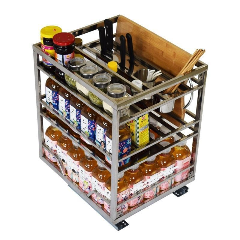 Cucina Accesorios Armario Organizer Stainless Steel Cozinha Cuisine Cocina Kitchen Cabinet Cestas Para Organizar Basket in Racks Holders from Home Garden