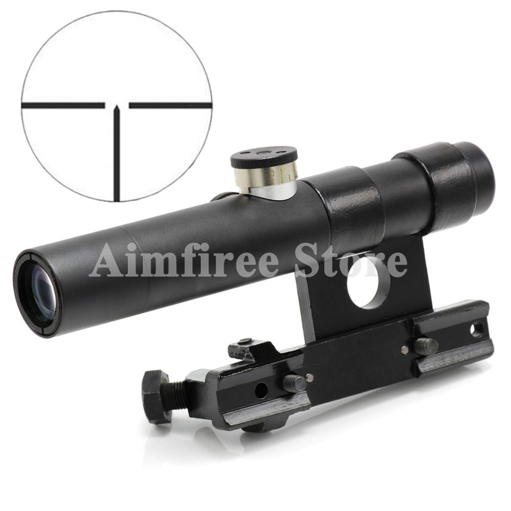 Shockproof Multlcoated Lens Riflescope 3.5X SVT-40 Hunting Rifle Scope For Mosin Nagant Sniper Scope mosin nagant pu 4x20 steel riflescope with etched glass reticle crosshair svt 40 hunting rifle scope