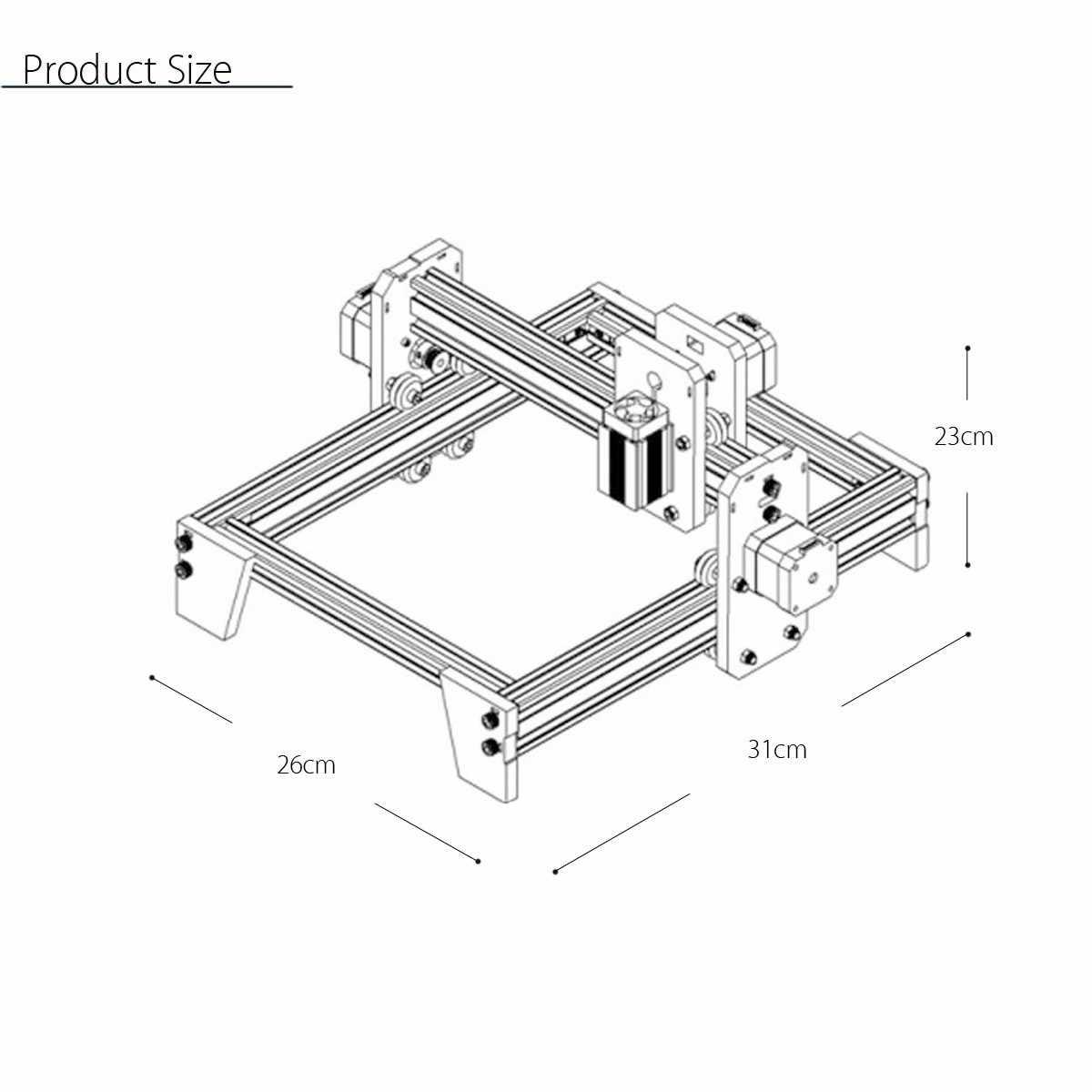 500 МВт Настольный лазерный гравировальный гравер для резки DIY логотип резьбы принтер