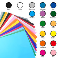 25Pcs Assorted Colors Dye Sublimation Heat Transfer Vinyl Film Paper for Polyester Cotton T Shirt Cup Case 300X250mm