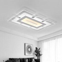 Nowoczesne lampy sufitowe LED na oświetlenie do salonu oprawa powierzchnia kwadratowy abażur sypialnia główna prosta lampa ściemniająca Luminaria