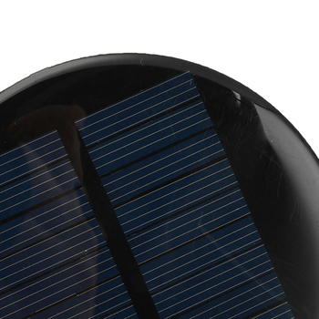 6V 2W 0.35A Solar Power 80MM DIY Mini Polycrystalline Silicon Solar Cell Module Circle Round Solar Panel Epoxy Board 4