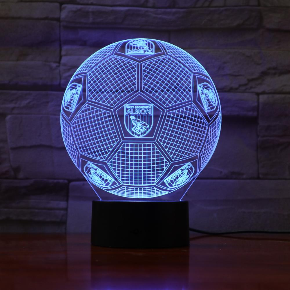 AW-873  Football Soccer Team Logo 3D LED Lamp 7 Colors Changing Remote Touch Control USB Gift Epacket Fast Dropshipping Service