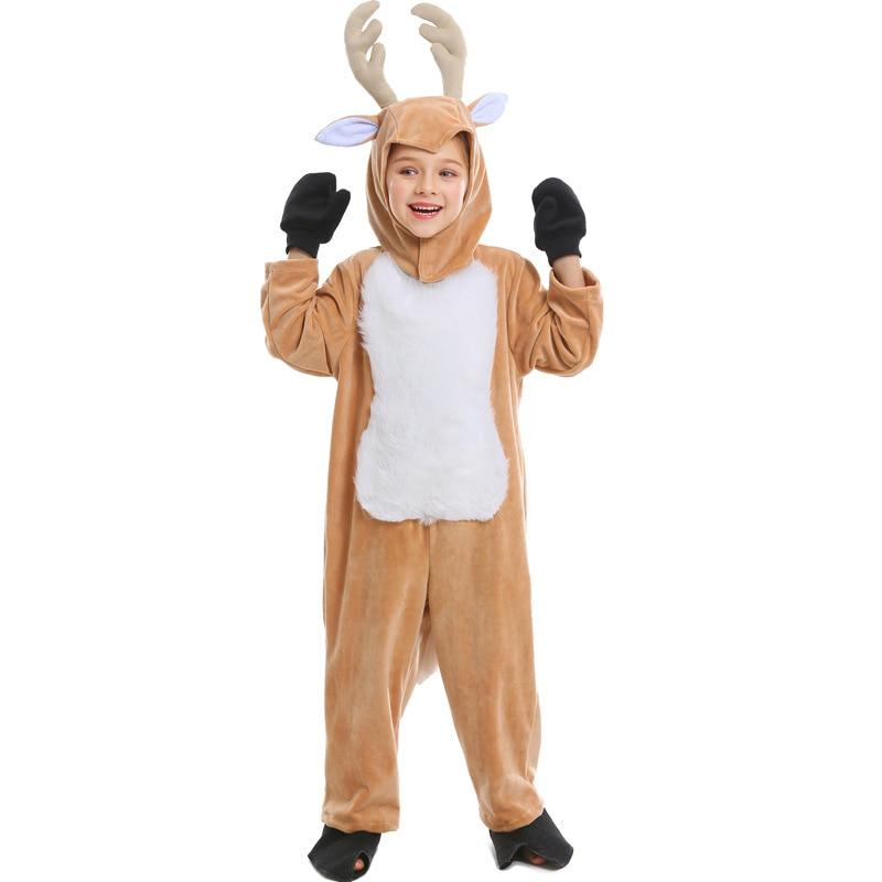 Cute Girls Reindeer Costume Kids Elk Cosplay Costume Children Animal Costume Halloween Christmas Costume For Kids