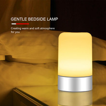 Kid DC5V 3.5W Touch Sensor LED Desk Lamp Night Light 3 Levels Adjustable Brightness Dimmable Color Changing USB Powered Bedroom(China)