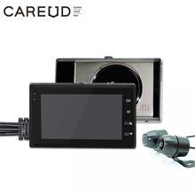 אוניברסלי אופנוע מצלמה DVR 3.0 אינץ HD תצוגת מנוע דאש מצלמת עם מיוחד כפול מסלול עדשה רחב שדה קדמי אחורי מקליט