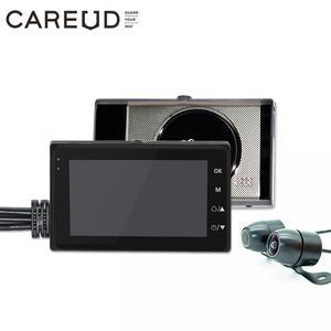Image 1 - Universal Motorrad Kamera DVR 3,0 Zoll HD Display Motor Dash Cam Mit Spezielle Dual track Objektiv Breite Bereich Vorne hinten Recorder