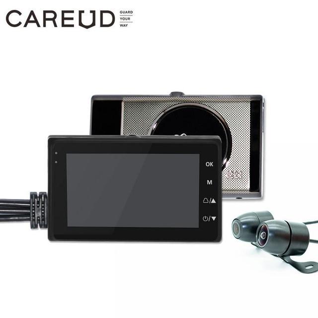 Universal Motorrad Kamera DVR 3,0 Zoll HD Display Motor Dash Cam Mit Spezielle Dual track Objektiv Breite Bereich Vorne hinten Recorder