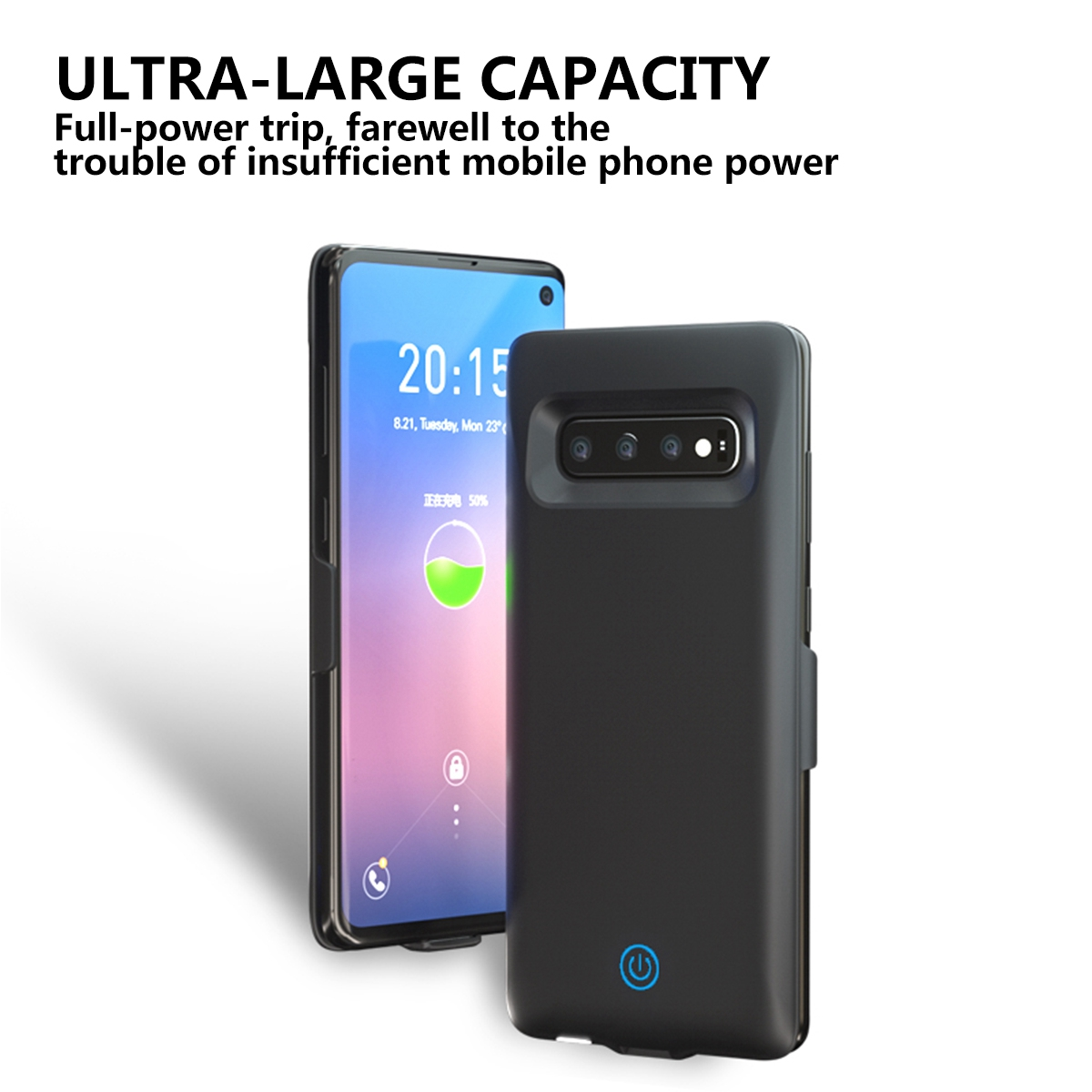 For Samsung Galaxy S10 Battery Charger Case 5500mAh External Slim Backup Power Bank Charger Cover For Samsung S10 Battery Case in Battery Charger Cases from Cellphones Telecommunications