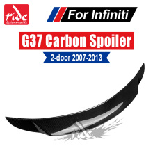 G37 High-quality Carbon Fiber Rear Trunk Spoiler Wing For Infiniti 2-Door Sedan Lip Decoration 07-13