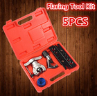 5PCS Flaring Tool Set Eccentric Flaring Tools Kit Flare Copper Tube Pipe Cutter Air-Conditioning Debure