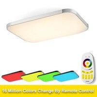Modernas Luzes de Teto LED RGB Lâmpada para sala quarto praça flush mount ceiling 90 260 v dimmer levou plafondlamp kids room|Luzes de teto| |  -