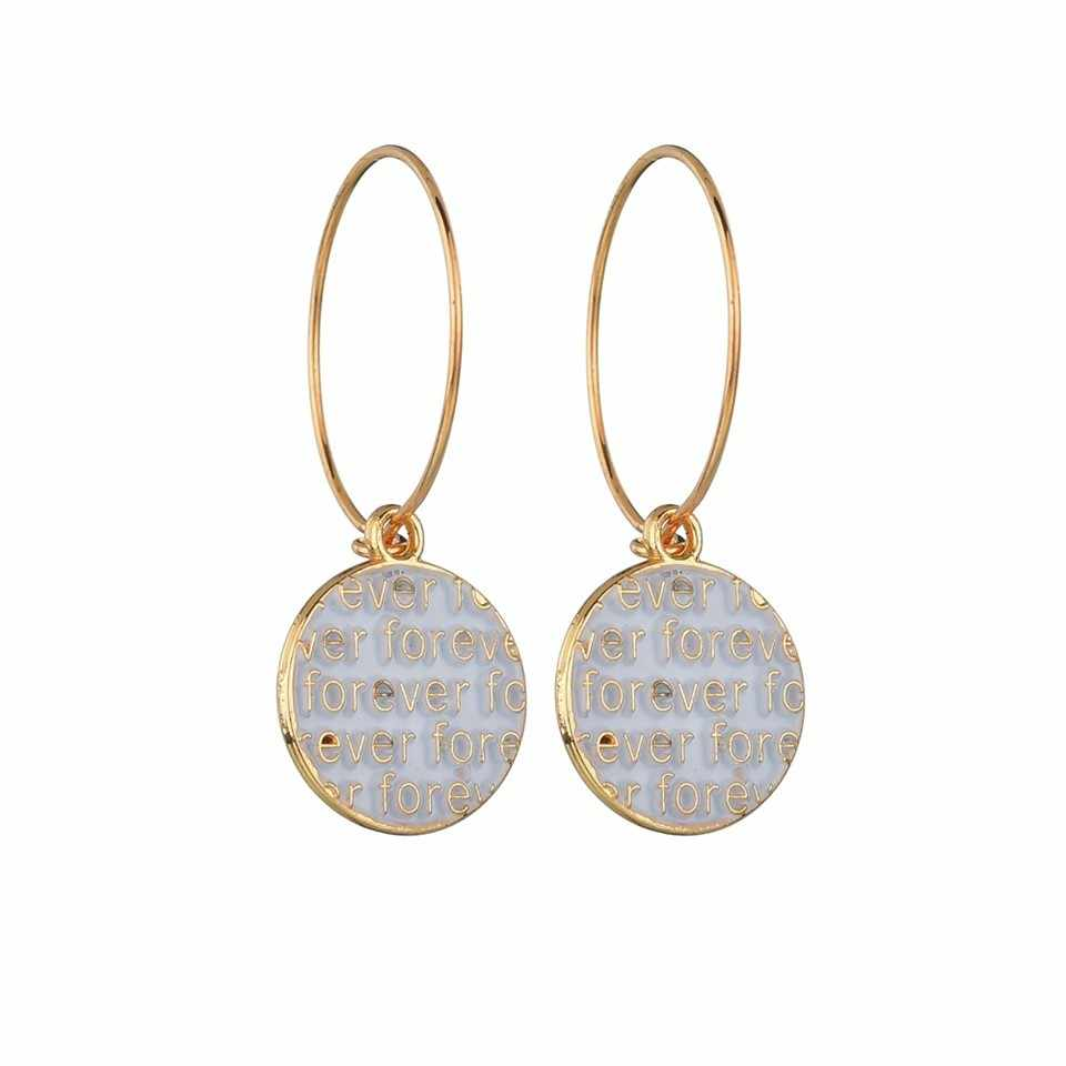 Женские Модные золотистые серьги-подвески Hallow Hear с серебряным номером 8 модные ювелирные изделия женские свадебные украшения ручной работы oorbellen