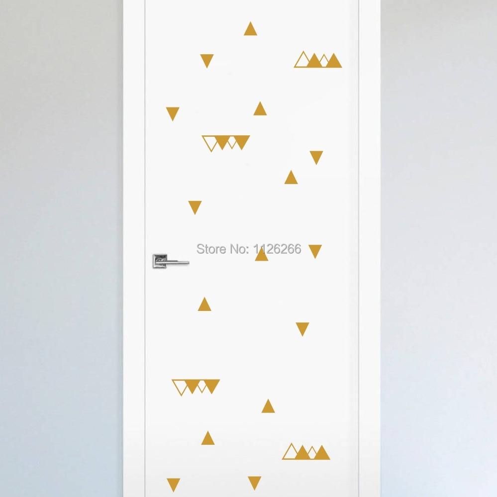 Creative Wall Art Triangles Pattern Geometric Wall Decal Kids Room Door Decoration