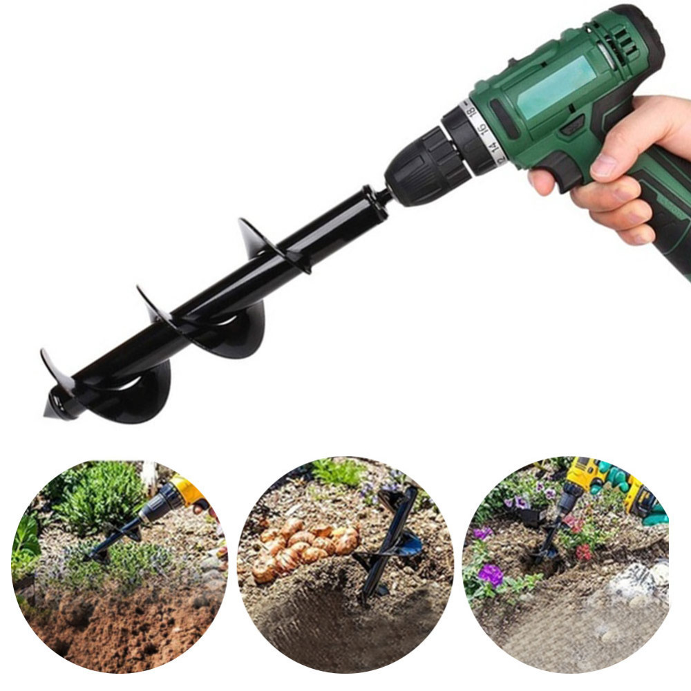Power Tool Accessories 1pc Garden Grass Plug Plant Flower Bulb Auger Rapid Planter Post Or Umbrella Hole Digger For Hex Drive Drill Bit Tools 8x25/30cm Reliable Performance
