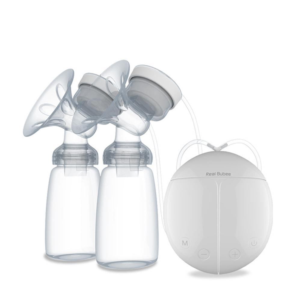 Kidlove Double Side Electric Breast Pump Automatic Massage For Postpartum Feeding Baby Milk Bottle Cold Heat Pad Nipple