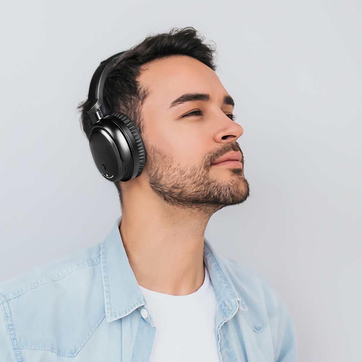 ANC actif suppression de bruit sans fil bluetooth casque HiFi stéréo pliable casque écouteur avec micro pour iphone pour Xiaomi-in Écouteurs et casques from Electronique    3