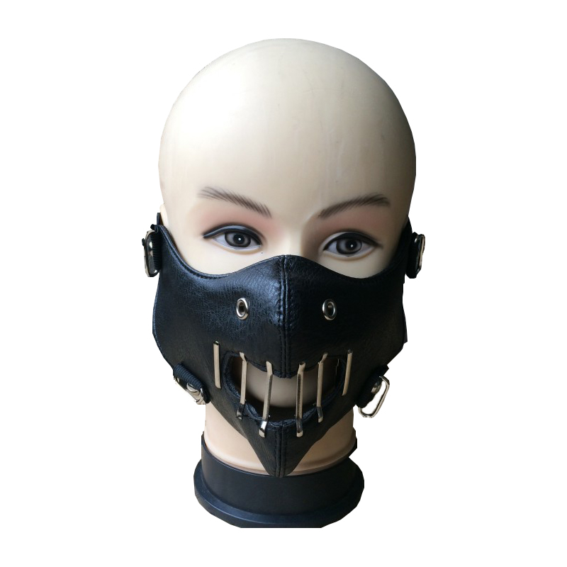 Horror Hannibal Lecter Mask Movie The Silence Of The Lambs Mask Halloween Cosplay Dancing Party Props Half Face Steampunk Mask