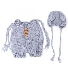 Детский вязаный свитер светло-серый детский реквизит для фотосъемки одежда новорожденный младенец стрельба фото костюм кожа-милый свитер