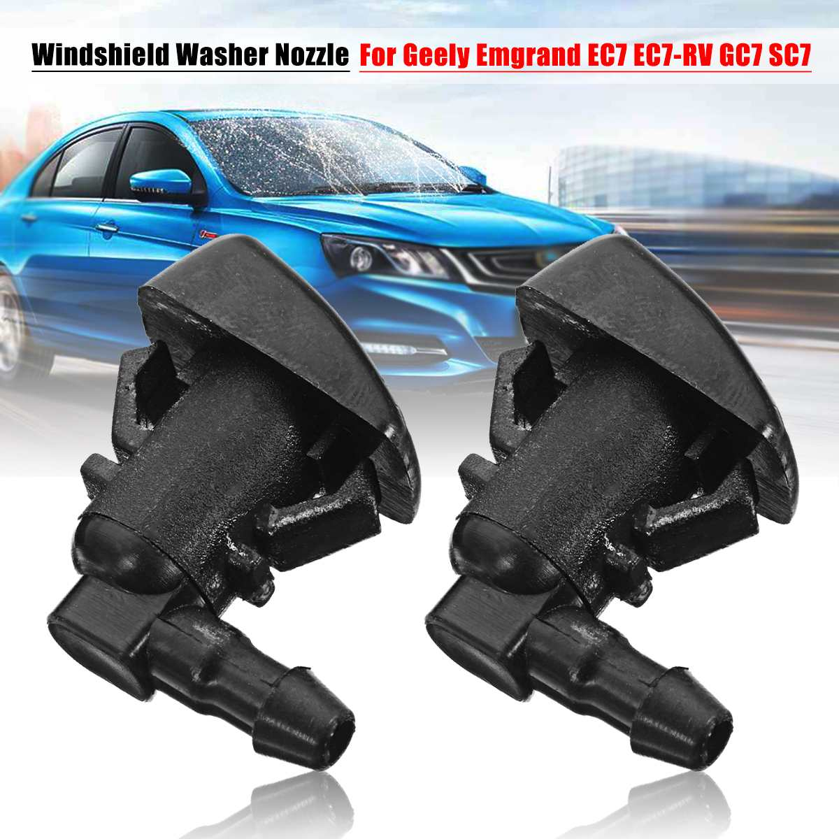 2pcs Car Windshield Wiper Washer Spray Nozzle Jet For