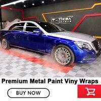 Глянцевый металлик винил металлическая краска, серебристый, голубой, Обёрточная бумага пленка для Элитный автомобиль Германии на основе ра
