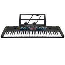 61 клавишная цифровая электронная клавиатура и микрофон электрическая светодиодная музыка
