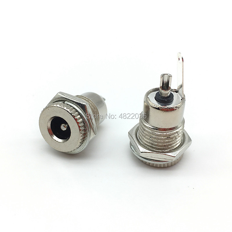 DC-099 5.5mm X 2.1mm 2.5mm DC Power Jack Socket DC099 Female Panel Mount Connector Metal  5.5*2.1 5.5*2.5