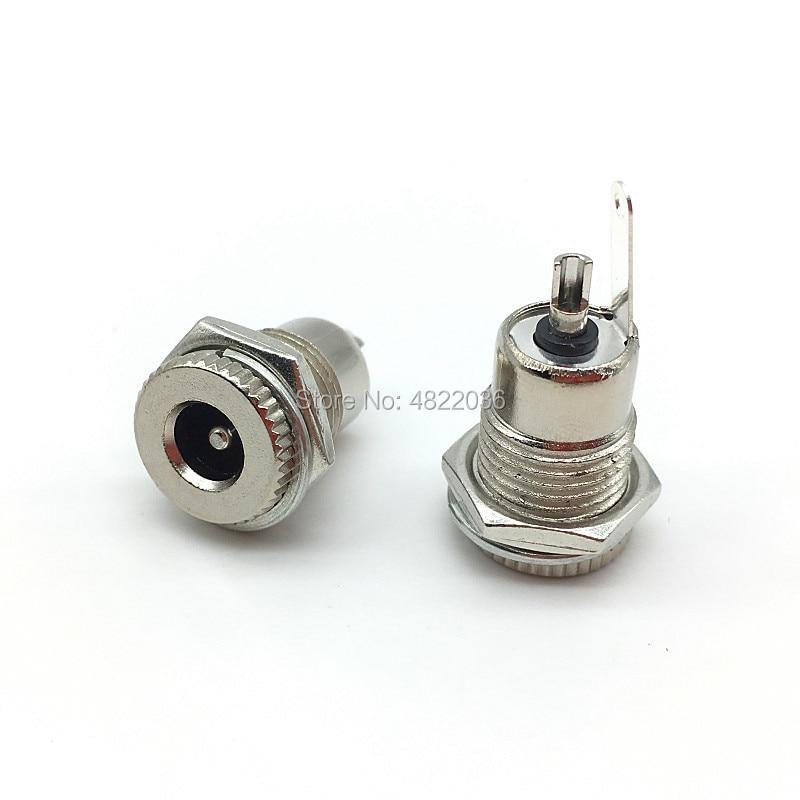 DC-099 5.5mm X 2.1mm 2.5mm DC Power Jack Socket DC099 Female Panel Mount Connector Metal  5.5*2.1 5.5*2.5