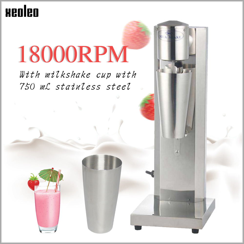 Xeoleo Commercial Milk Shake Machine Stainless Steel Bubble Tea 30cup/hr Mixer Foam